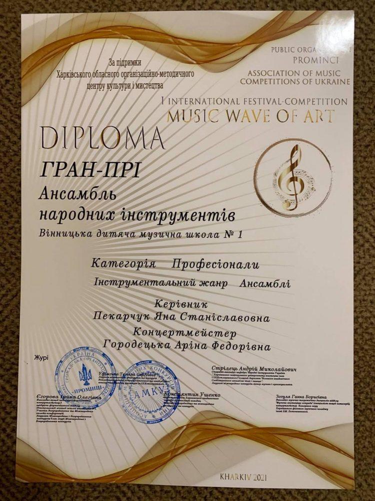 Викладачі Вінницької дитячої музичної школи здобули перемогу на міжнародному конкурсі