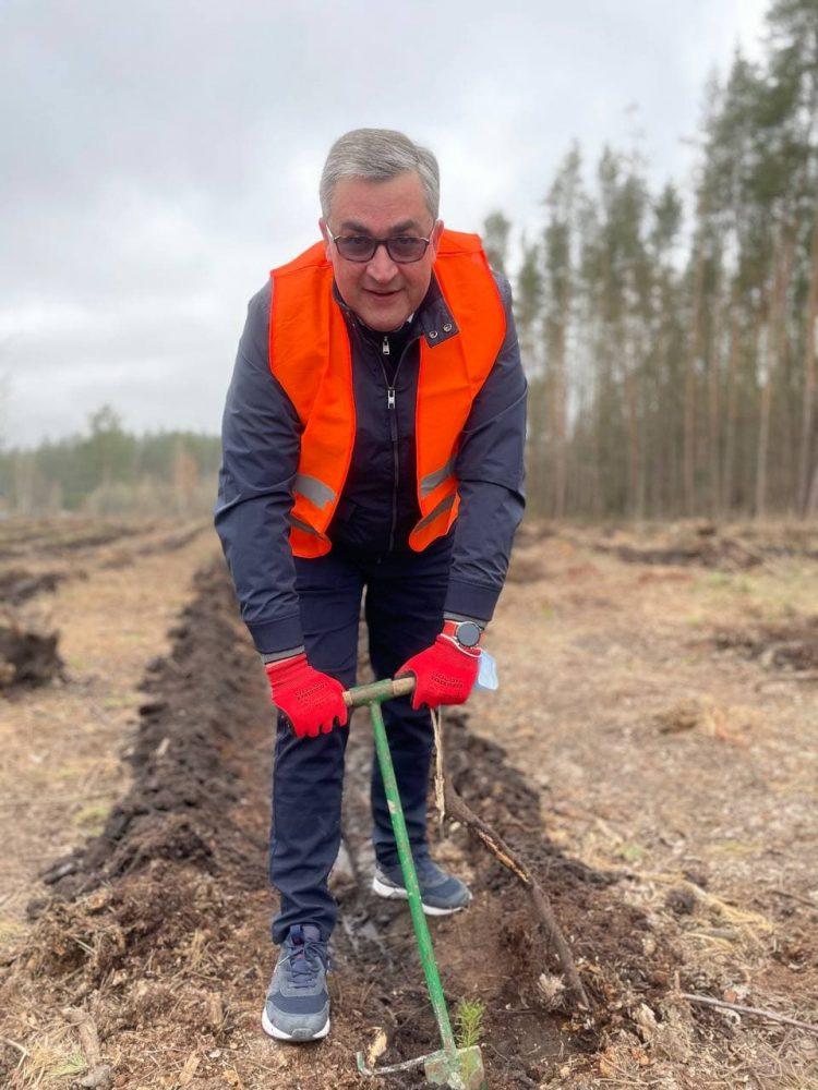 Депутати від «Української Стратегії Гройсмана» висадили близько восьми тисяч дерев на території Іванівської громади